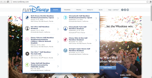 Our races are now top on the RunDisney site!