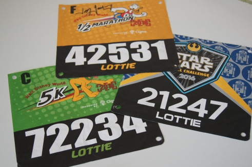 RunDisney race bibs