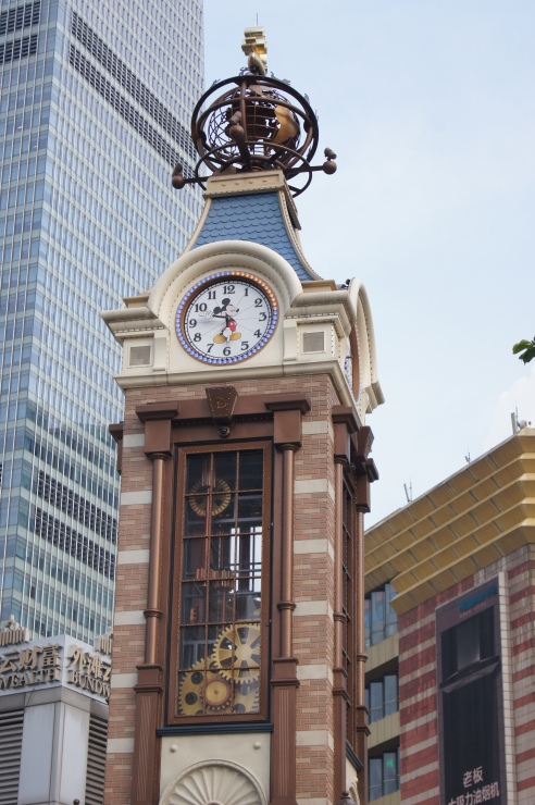 Shanghai Disney Store clock tower