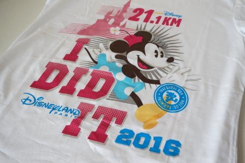 RunDisney Paris race shirts