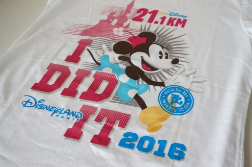 RunDisney Paris race shirts