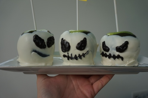 Jack Skellington Candy Apples