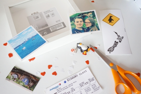 DIY Travel shadow box fram